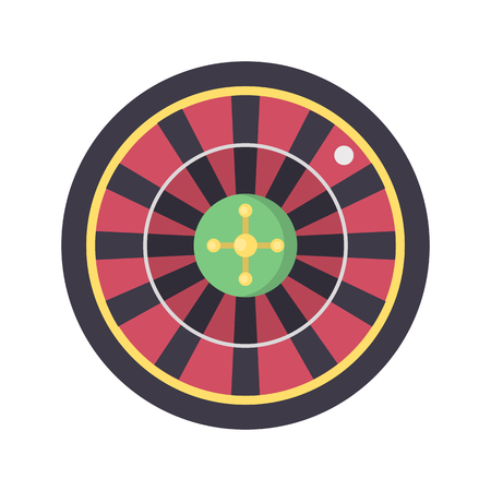 Casino roulette color vector icon. Flat design