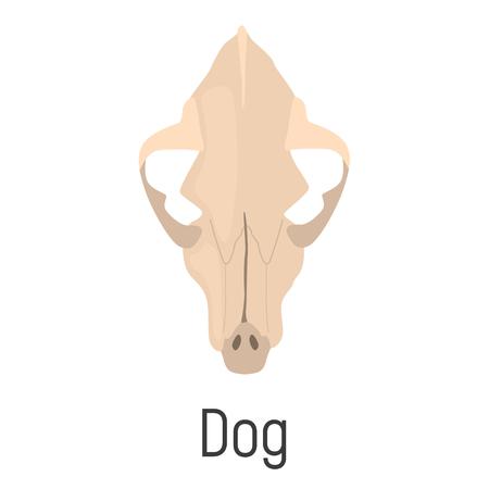 Dog skull color vector icon. Flat design Ilustrace