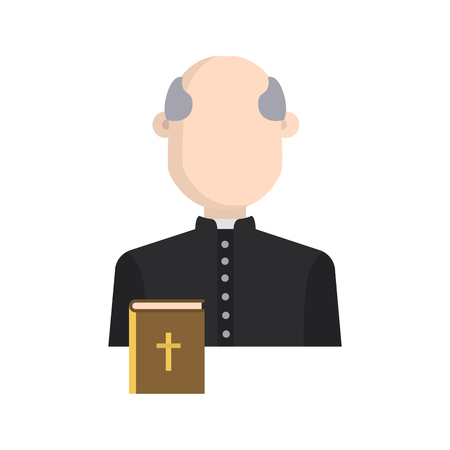 Priest color vector icon. Flat design Ilustrace