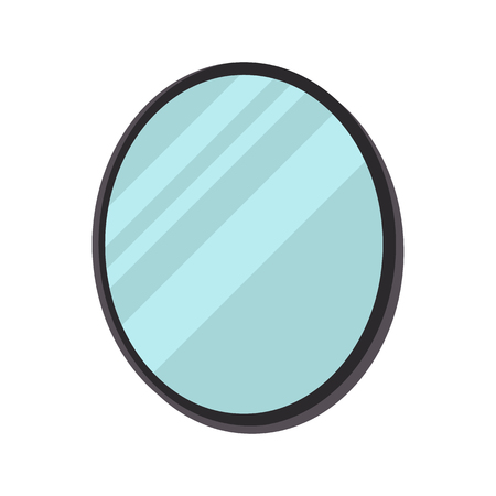 Beauty salon mirror color vector icon. Flat design Ilustrace