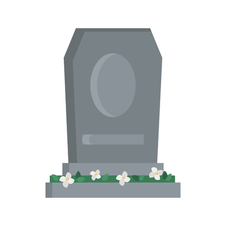 Monument Tomb color vector icon. Flat design