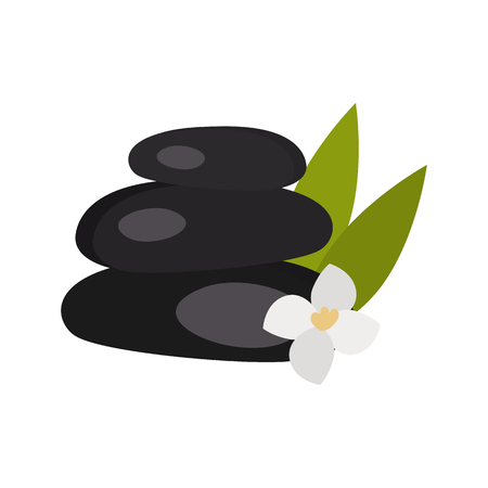 Spa stones color vector icon. Flat design