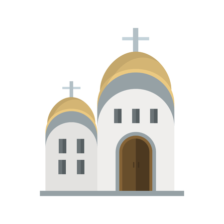 Church color vector icon. Flat design Stockfoto - 119160921