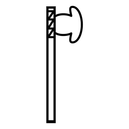 primitive weapon ax line icon