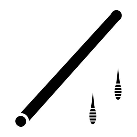 primitive weapon tube simple icon 向量圖像