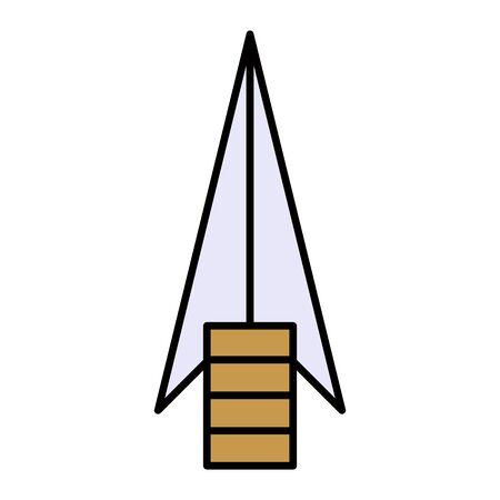 primitive weapon arrow flat icon