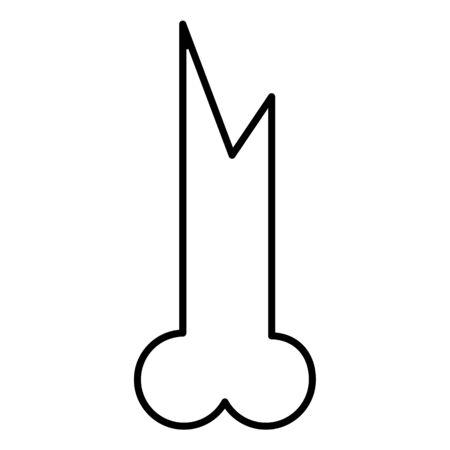 primitive weapon bone line icon