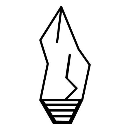 primitive weapon stone line icon