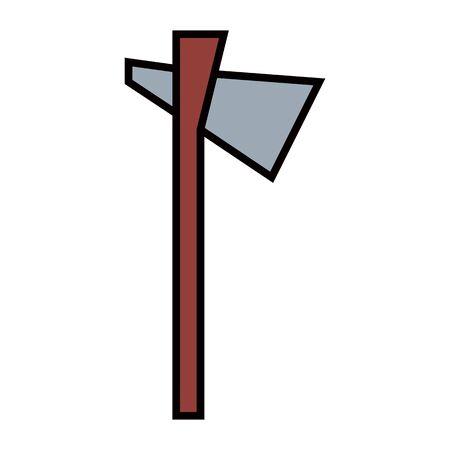 primitive weapon ax flat icon Vettoriali