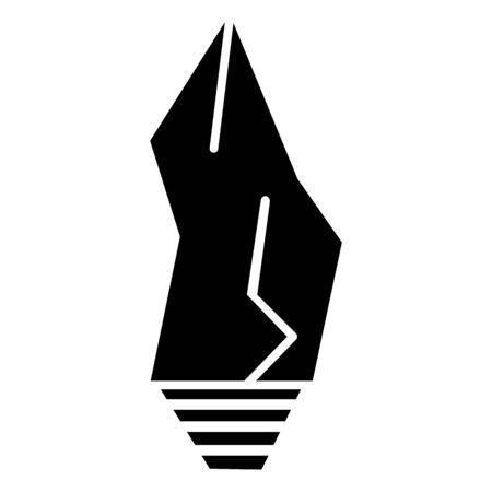 primitive weapon stone simple icon Vectores