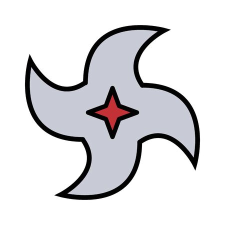 medieval weapon icon flat shuriken