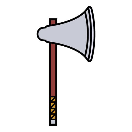 medieval weapon icon flat axe