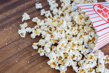 Fresh popcorn snack on table