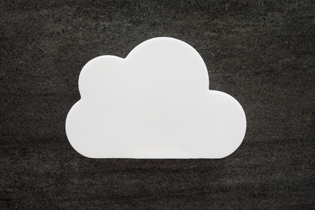 puffy: Abstract white puffy storm cloud Stock Photo