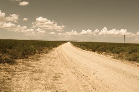 antiqued: Antiqued road in the midwest, Texas.