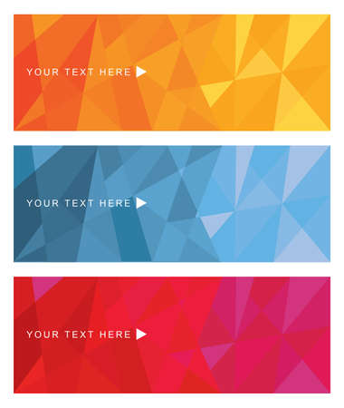 Vector abstract polygonal geometric design background texture banner template set. illustration.This design can be use for banners,brochure,flyers,leaflets,cards,etc.Its colorful and vibrant.