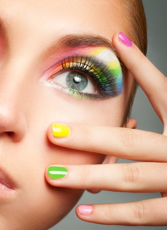 Bright make-up Stockfoto