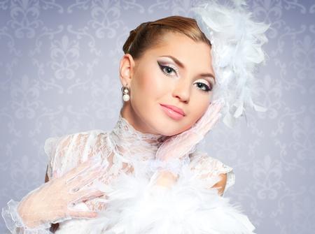 Beautiful bride portrait photo