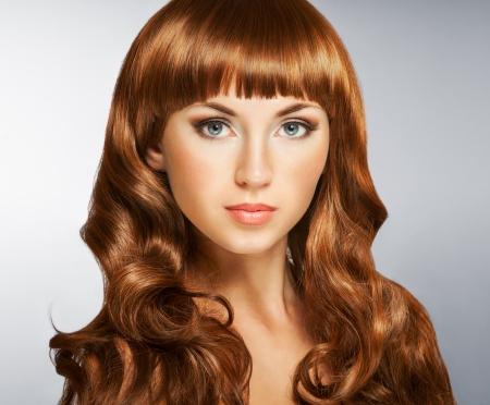 beautiful long hair: Beautiful woman with long curly hair