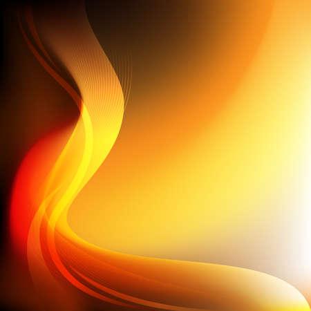 curve: curve orange background