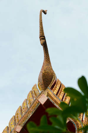 gable: gable apex on the Buddhist temple roof