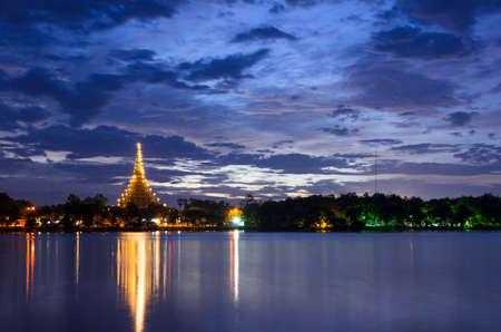 landscape, sunset, night, Khon Kaen