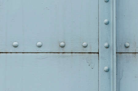 boundaries: rusty steel, Light blue retro, Seam, The boundaries of the steel plate Stock Photo