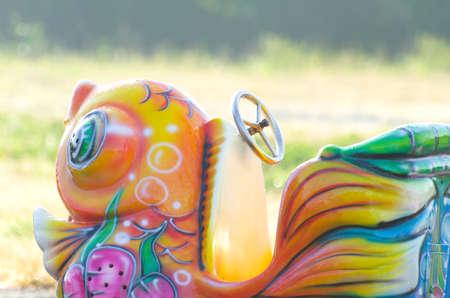 playground rides: Amusement Park Ride Child colorful. Stock Photo