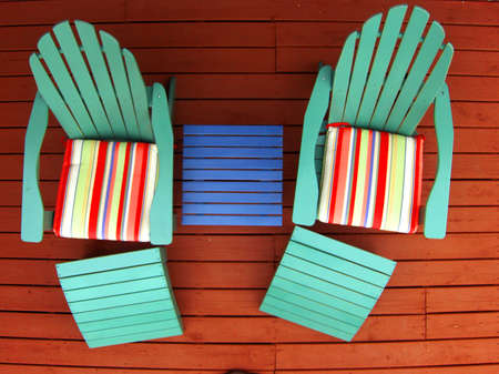 porches: deck chairs on deck