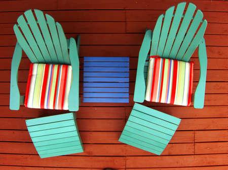 liesure: deck chairs on deck