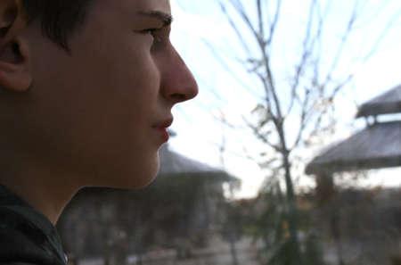 depressed teen Stock Photo
