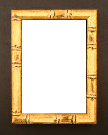 asian style natural bamboo frame on black background photo