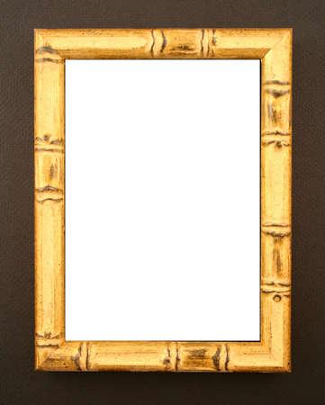 Aziatische stijl natuurlijke bamboe frame op zwarte achtergrond