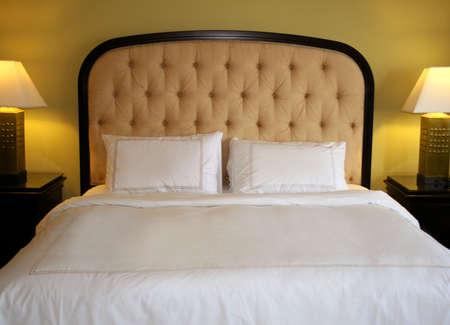 bed in luxury hotel suite