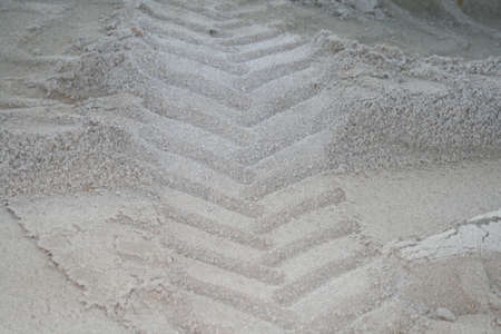 tread mark in sand
