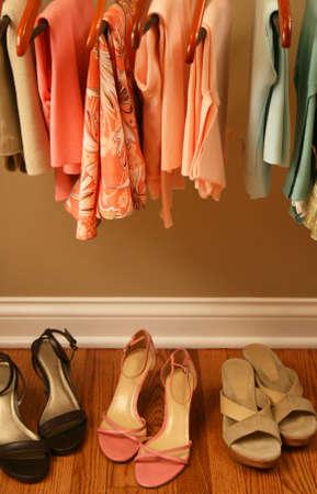 voorjaar garderobe Stockfoto
