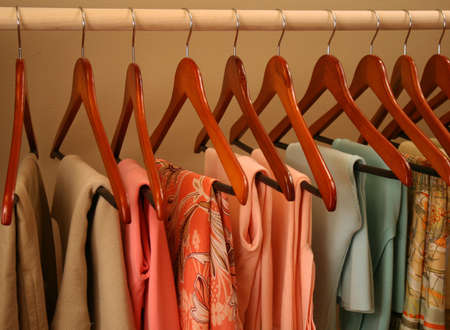 hangers: spring sweaters and skirts
