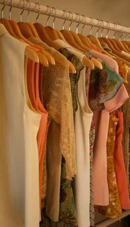 diagonal shot of women's spring blouses Stock Photo - 2341780