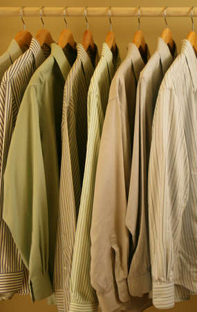 striped and solid men's dress shirts Stock Photo - 2435017