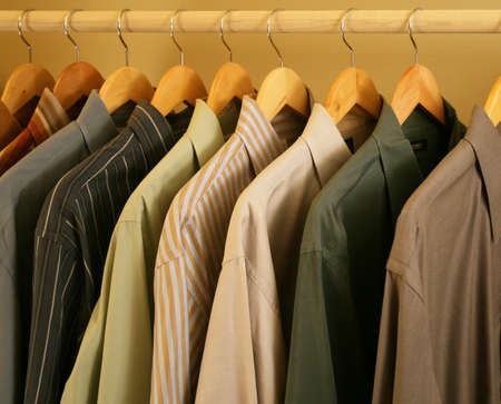 closet: dark toned mens contemporary dress shirts