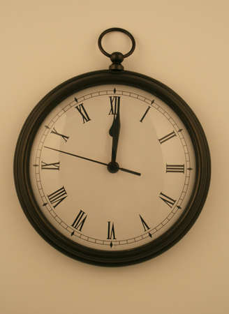 pocketwatch style clock on white background