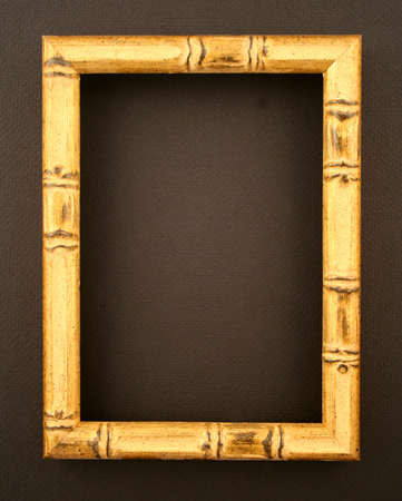 asian style bamboo picture frame Stock Photo