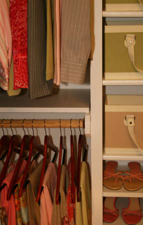 closet: pretty organized clothing