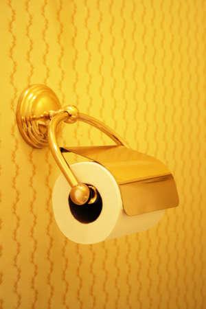 fancy toilet paper roll holder photo