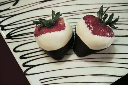 fancy dessert aardbeien Stockfoto