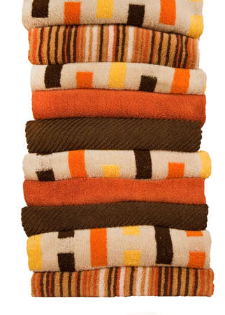 stack of towels Stock Photo