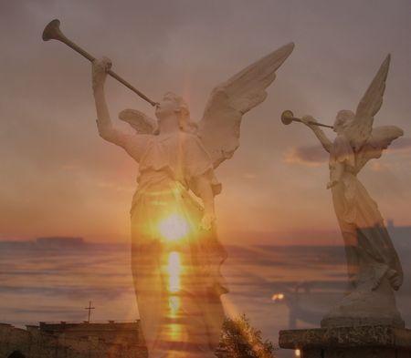 吹聴ている天使コラージュ