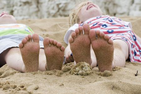 little feet on the beach Stock Photo