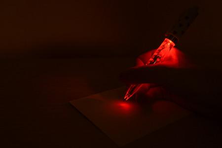 light up: Red light up pen