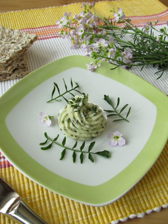 Herbs butter with Cuckoo Flower photo